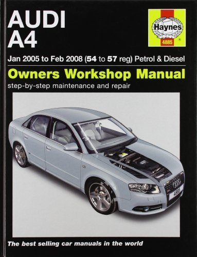 Audi A4 Petrol And Diesel Service And Repair Manual: 2005 To 2008 (Haynes Service And Repair Manuals) By Randall, Martynn (2010) Hardcover