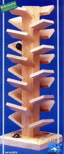Beluga Rollturm Klangbaum Murmelbahn aus Holz