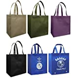 Reusable Grocery Tote Bag 6 Pack Combo ~ Duratech Group