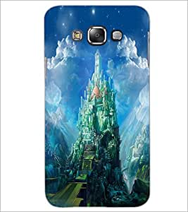 PrintDhaba Castle D-4423 Back Case Cover for SAMSUNG GALAXY E7 (Multi-Coloured)