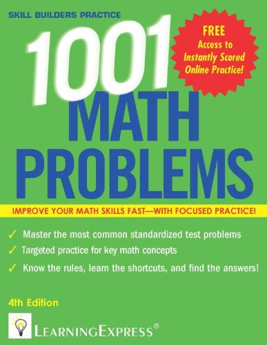 1,001 Math Problems (1001 Series) (Llc Learning Express compare prices)