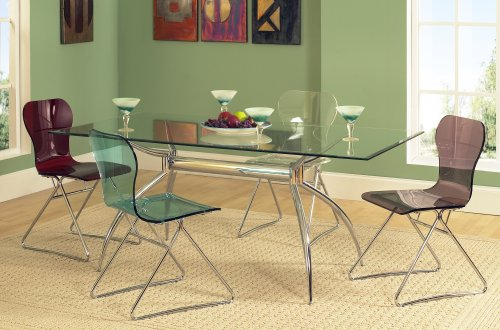 Buy Low Price Coaster Vance Contemporary Glass Top Dining  : 515FwkjAP5LSL500 from www.kitchenfurniturebargain.com size 500 x 330 jpeg 40kB