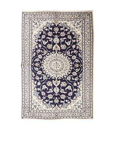 Rugsense tapijt Perzië Nain ivoor / blauw / hemelsblauw