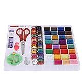 Demiawaking 裁縫道具セット ぬい針 手縫い系 ミシン縫い糸 32色常備糸 64個セット