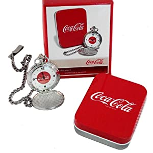Coca-Cola RETRO POCKET WATCH - Hunter-Case With CHAIN