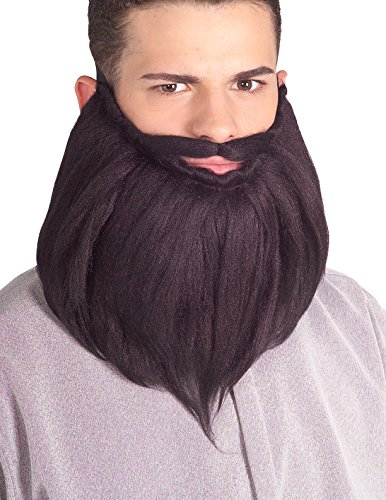 Rubie's Costume Co Men's Adult 8-Inch Beard and Mustache Set, Black, One Size