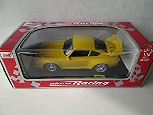 anson racing porsche 911 gt2 1 18 yellow toys games. Black Bedroom Furniture Sets. Home Design Ideas