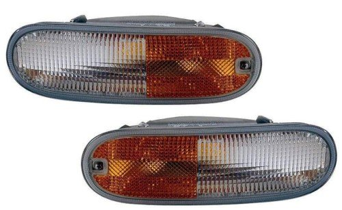 Volkswagen Beetle Replacement Turn Signal Light (without Socket & Bulb) - 1-Pair (Vw Beetle Turn Signal Lens compare prices)