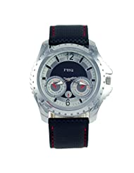 PHQ Classy American Designer Analogue Black Dial Men's Watch - CLS 023