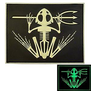 US Marine Navy Seals Bone Frog Crâne Squelette DEVGRU Morale PVC 3D Velcro Écusson Patch