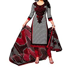 Shree Hari Creation Women's Poly Cotton Unstitched Dress Material (254_Black_Free Size)