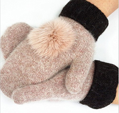 [Eternal Heart Ladies Wool Warm Gloves (Camel)] (Camel Child Costumes)