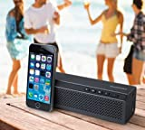 Merkury PLATINUM Portable Wireless Stereo Bluetooth Speaker with Built in Microphone / Speakerphone & 8 Hour Rechargeable Battery (Blue)