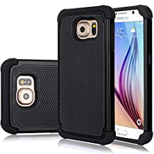 buy Galaxy S6 Edge Case, Jeylly [Shock Proof] Scratch Absorbing Hybrid Rubber Plastic Impact Defender Rugged Slim Hard Case Cover Shell For Samsung Galaxy S6 Edge S Vi Edge G925