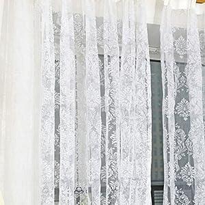 Amazon.com - Fedi Door Balcony Voile Curtain Sheer Scarfs