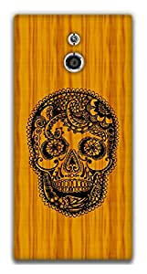 The Racoon Lean Woody Skull hard plastic printed back case / cover for Sony Xperia P