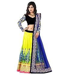 Fashion Gallery Multicolor Georgette Net Designer Lehenga