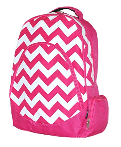 Chevron Backpack School Bag Computer Bag Hot Pink Heavy Duty by LD Bags