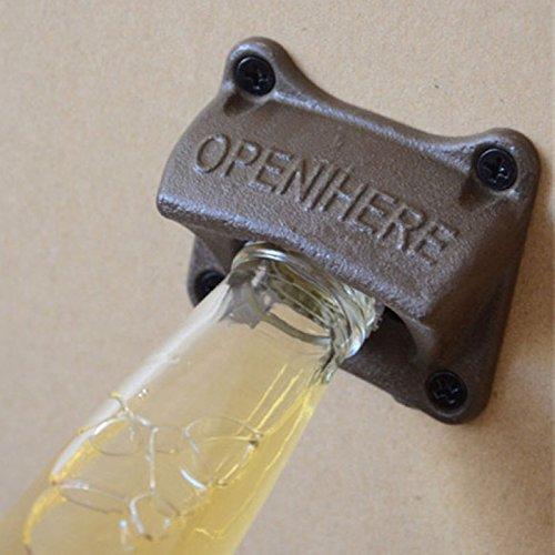 iDealhere 1pc Klassisch Wandmontierte Bier Flaschenöffner Eisen