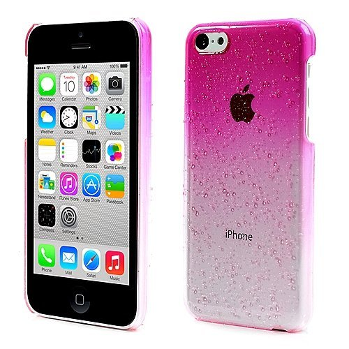 Iphone 5C Raindrop Case Snap Cover Pink Clear+2 Lcd Screen Protectors front-1055635
