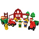 Child Toddler Toy Farm Set Tractors Trailers Animals & More Brand New Gift Boxed