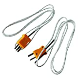 URBEST 2 Pcs K Type 800C Wire Lead Measuring Thermocouple Sensor 1M 3.3Ft for Measure Temperature of Air or Gas