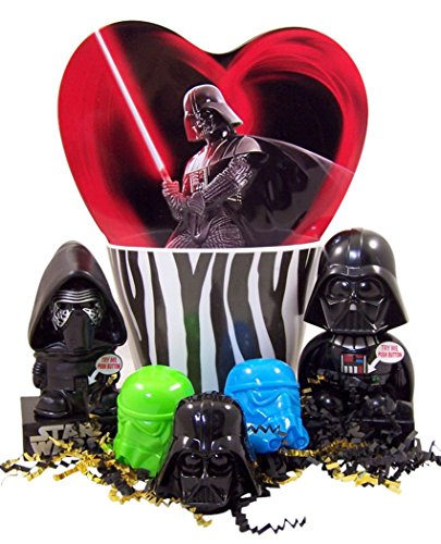 The Dark Side Star Wars Easter Basket with Kylo Ren Darth Vader Dispensers and Candy
