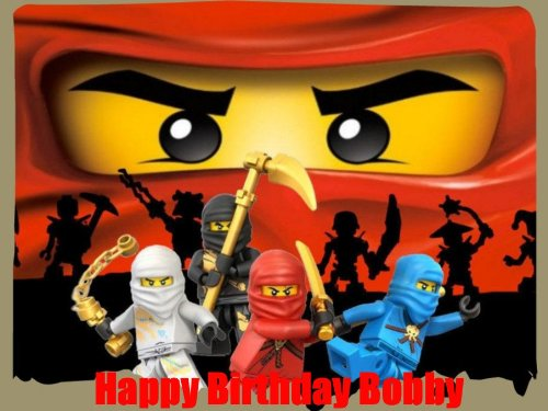 Lego Ninjago 2 Edible Image Cake Toppers Frosting Sheet