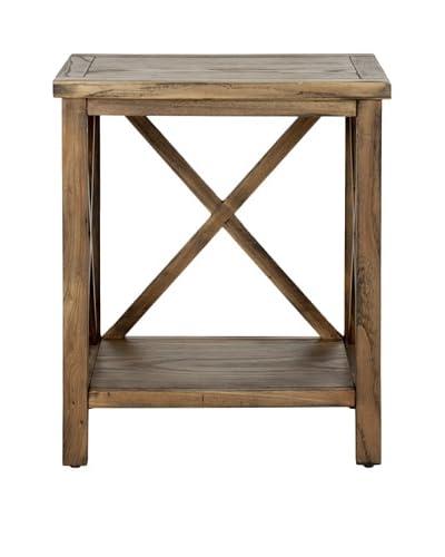 Safavieh Candence Cross-Back End Table, Oak