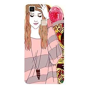 Happy Girl - Mobile Back Case Cover For Vivo V3 Max