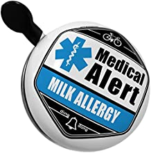 Bicycle Bell Medical Alert Blue Milk Allergy by NEONBLOND
