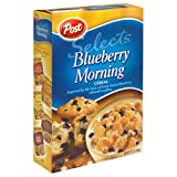 Post Blueberry Morning Cereal, 13.5-Ounce Box (Pack of 7)