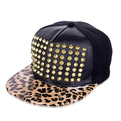 vbiger cool hip hop baseball hats cap black