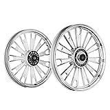 Kingway JS2L Zipp Bike Alloy Wheel Set of 2 19/19 Inch Silver CNC-Royal Enfield Electra