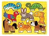 Melissa & Doug Pets Mix 'n Match Wooden Peg Puzzle (8 pcs)