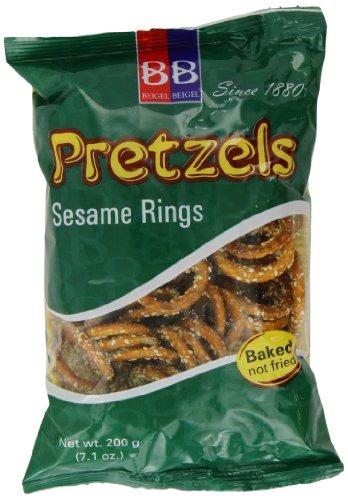 Beigel Beigel Sesame Rings Pretzel 200 g (Pack of 6)