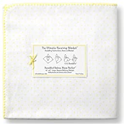 Swaddle Designs Ultimate Receiving Blanket, Pastel Yellow Polka Dots