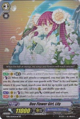 Cardfight!! Vanguard Tcg - Duo Flower Girl, Lily - White (Eb10/004En) - Extra Booster Pack 10: Divas Duet front-1054508