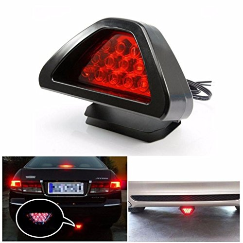 Iuhan® Fashion Universal F1 Style 12 LED Red Rear Tail Third Brake Stop Safety Lamp Light Car (Off Road Rear Tail Light Led Bar compare prices)