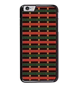 Fuson Premium 2D Back Case Cover Red pattern With black Background Degined For Apple iPhone 6S