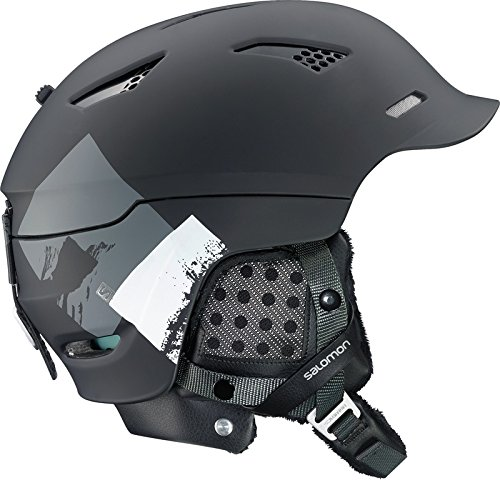 Salomon Prophet Custom Air Helmet - Black Matt/orange