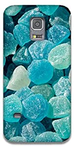 The Racoon Grip blue jelly rocks hard plastic printed back case / cover for Samsung Galaxy S5 Mini