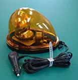 【LED 回転灯 車載型 ハイパワー 黄色】 12V/24V 用 長寿命・省エネタイプ
