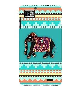 Fuson Premium Elephant Art Printed Hard Plastic Back Case Cover for Lenovo S860