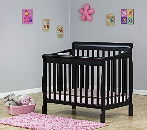Check Out This Dream On Me 4 in 1 Aden Convertible Mini Crib, Black