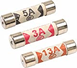 Multipack Of Fuses / 5x13AMP - 2x5AMP - 3x3AMP / Domestic Household Fuse Plug Mains Cartridge Fuse / British Standard