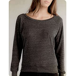 Alternative aa1990 The Slouchy Eco-Heather Pullover - Eco-Black AA1990 Large