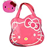 2014 New Hello Kitty Roomy Travel Bag Carry Holdall Handbag (Pink 1)