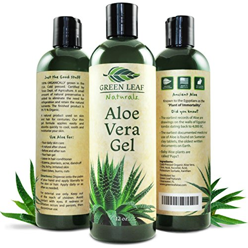 Green Leaf Naturals Organic Aloe Vera Moisturizer for Skin and Hair, 12 Ounce (Moisturizers For Natural Hair compare prices)