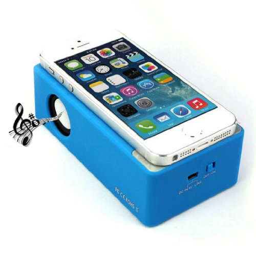 Towallmark New Magic Interaction Wireless Cordless Speaker For Iphone 4Gs 5G/5S/5C I9300 I9500 Mp3(Blue)